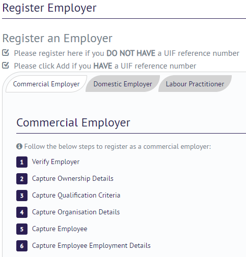 UIF Commercial Employer